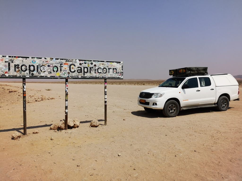 Tropic of Capricorn sign, Namibia