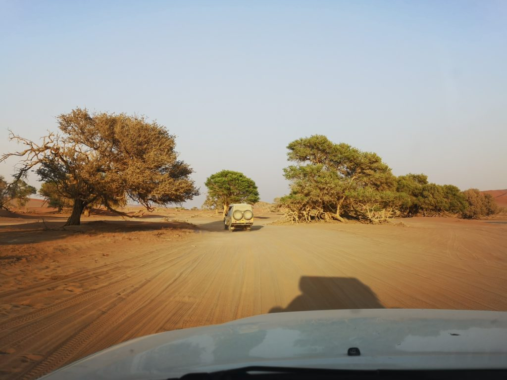 Some adrenaline driving from 2x4 Parking to 4x4 Parking,on a self-drive trip in Sossusvlei, Namibia