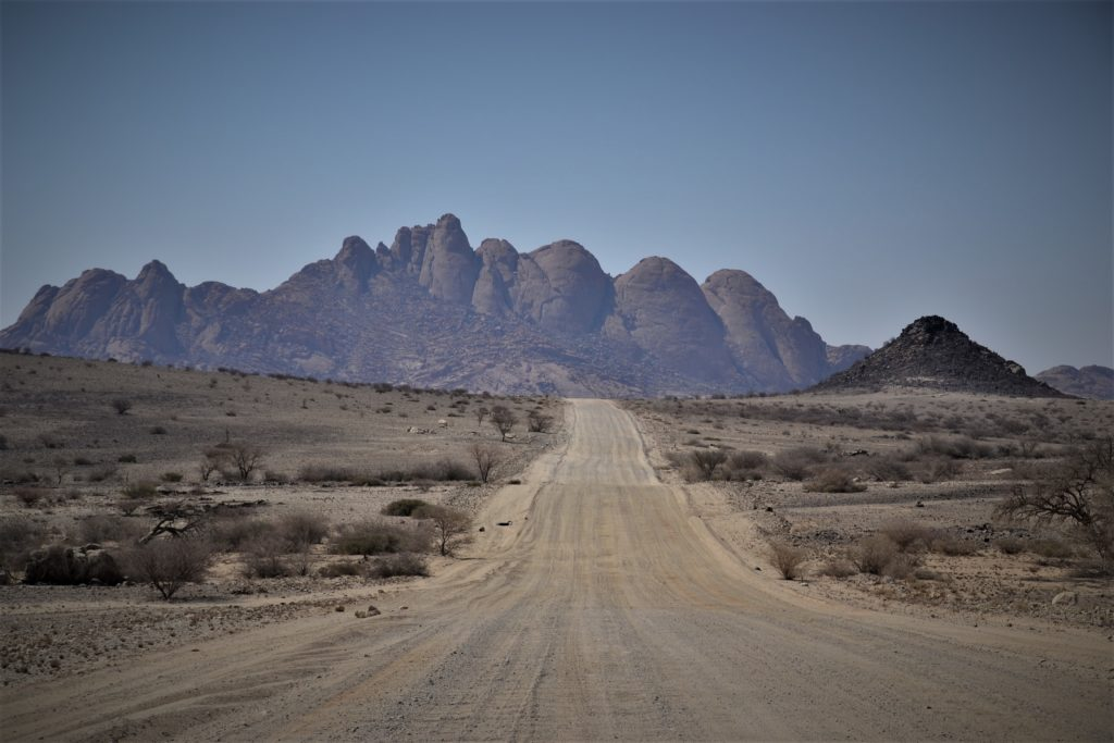 the road to Spitzkoppe, Namibia