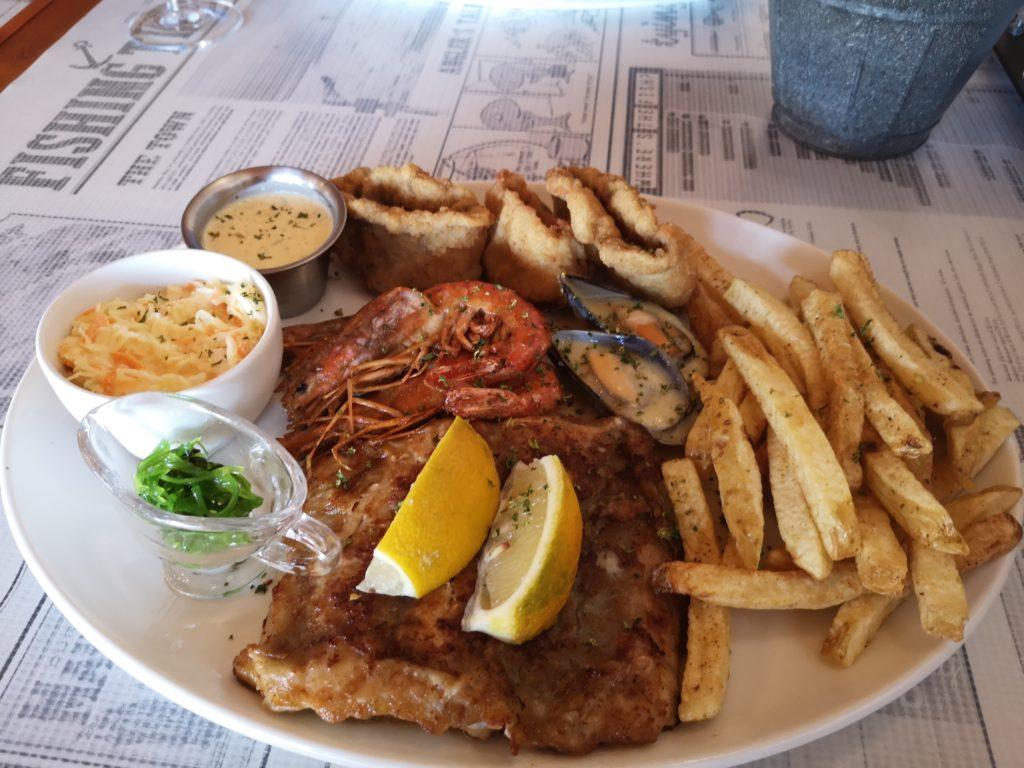 Seafood plate, Go Fishy Restaurant, Hentiesbaai, Namibia