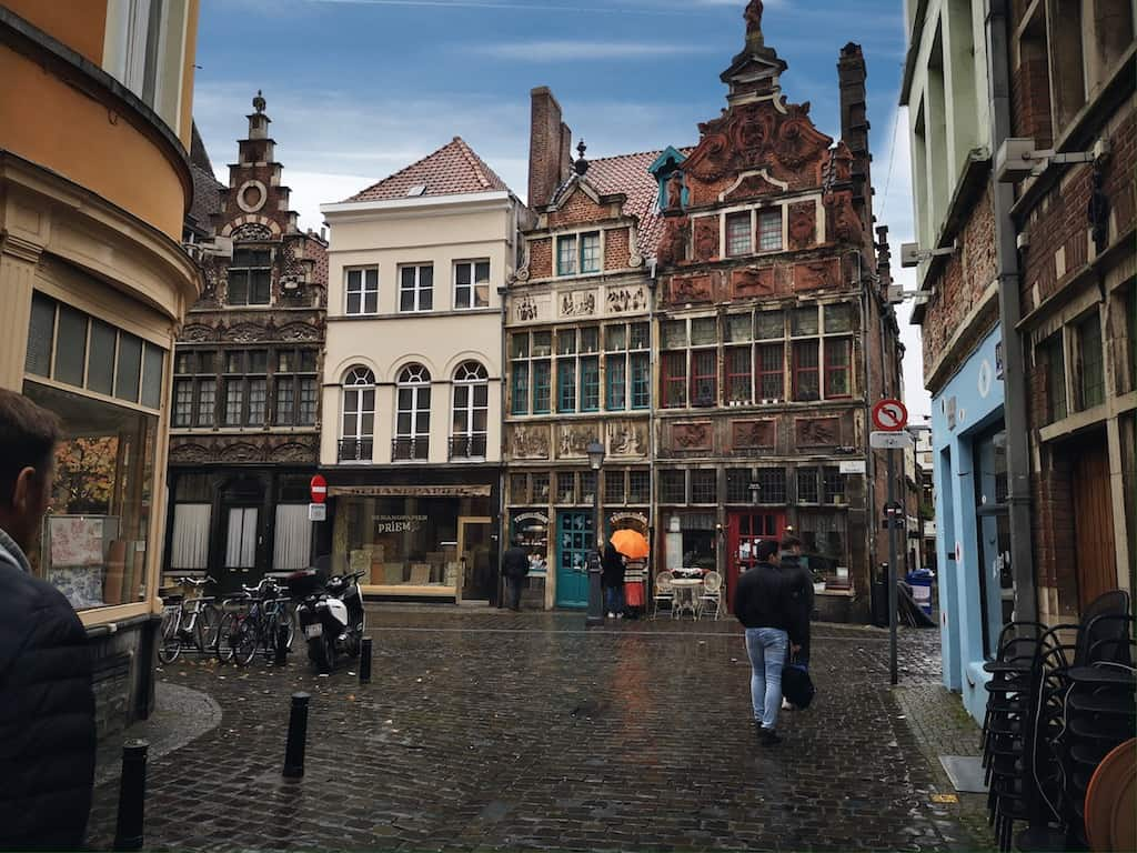 Strolling around the streets of Ghent.
