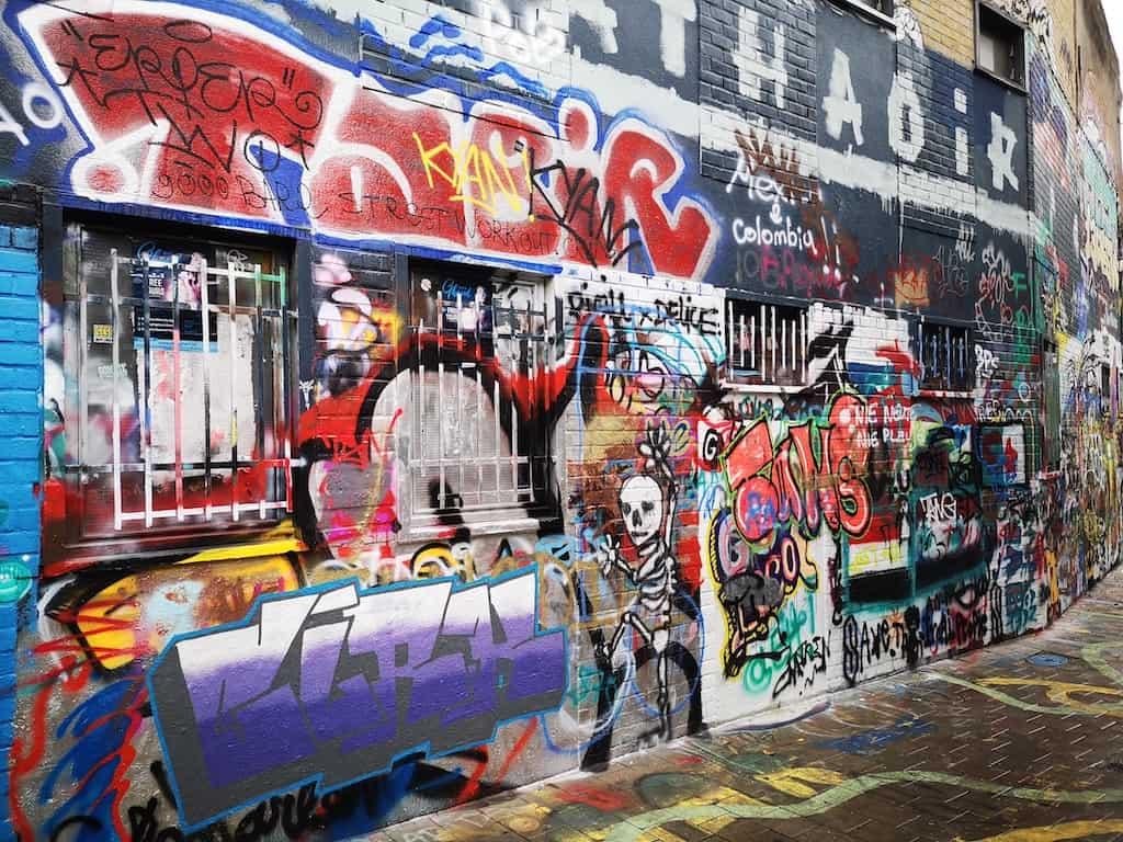 walking on Graffiti Street