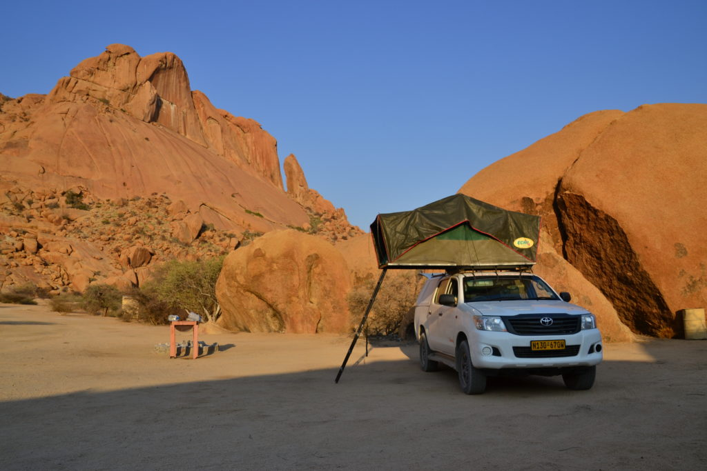 Campsite nr. 11B, Spitzkoppe, 4x4 camping in Namibia
