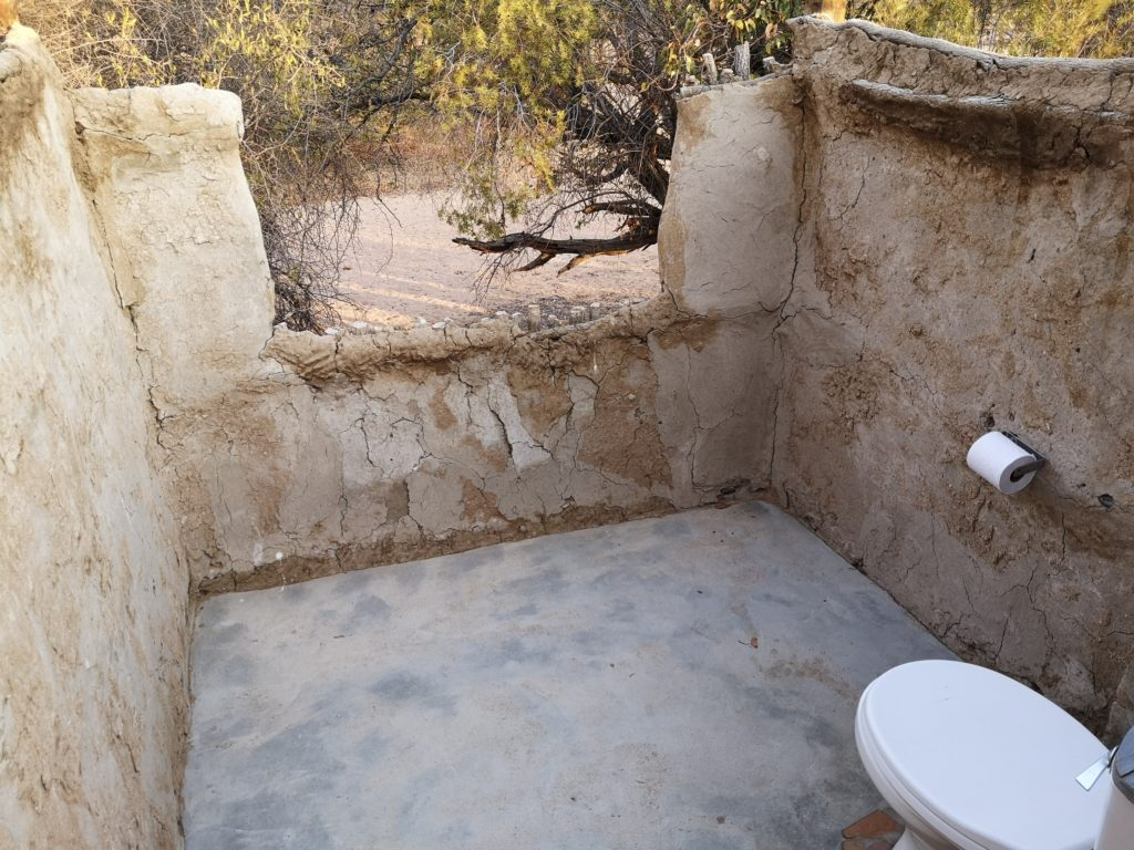 Toilet with a view at Madisa Camp