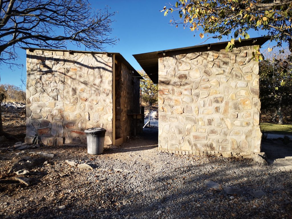 Ablution facilities at Mondjila Safari Camp, 4x4 camping in Namibia
