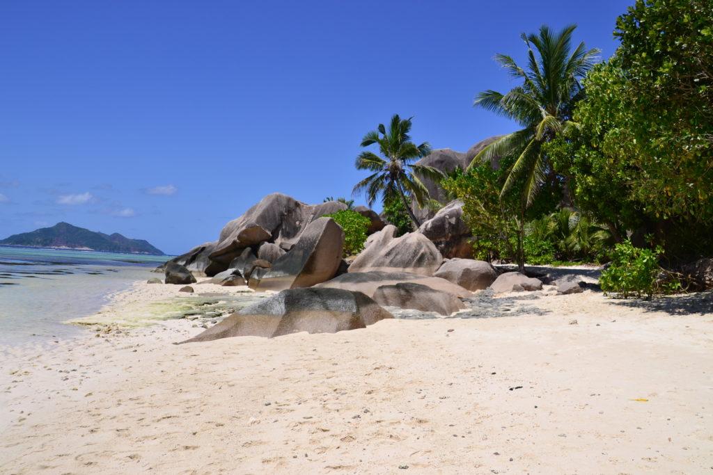 Lovely beach on Praslin, Seychelles