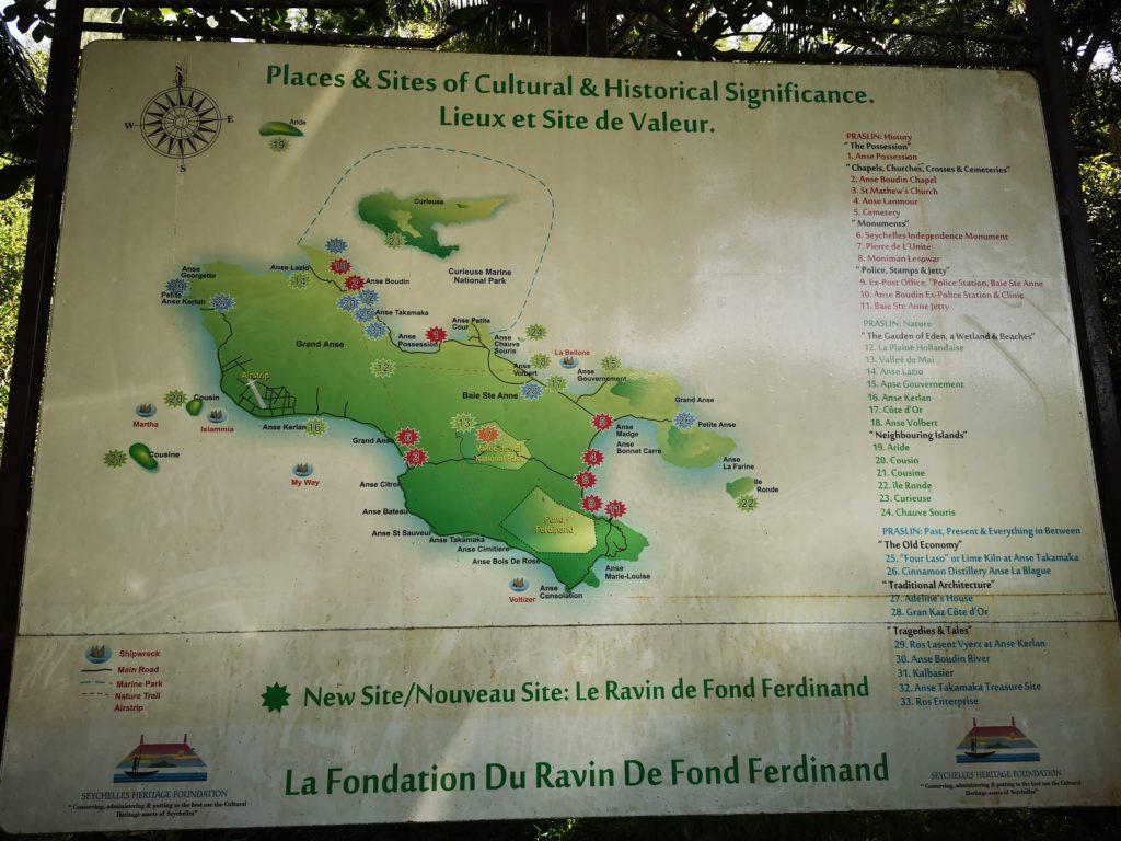 Map of Praslin, A complete guide to Praslin Island in Seychelles.