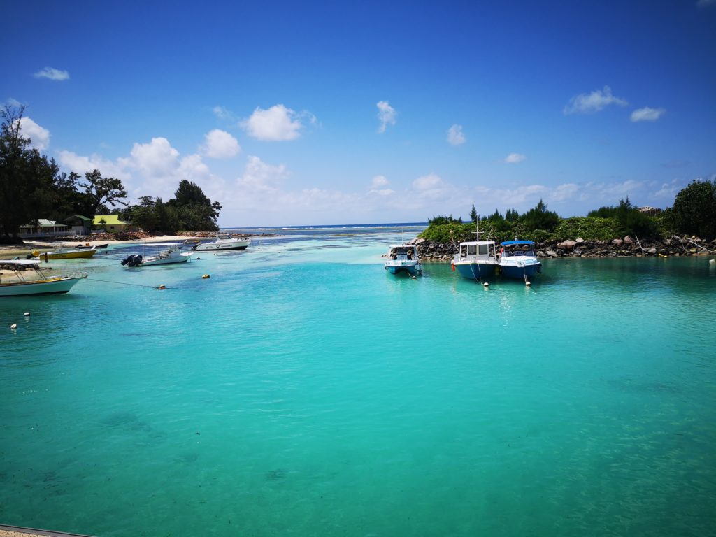 Beautiful bay in La Digue, Seychelles
