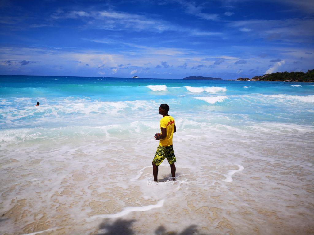 Lifeguard often present at Anse Lazio! A complete guide to Praslin Island in Seychelles.