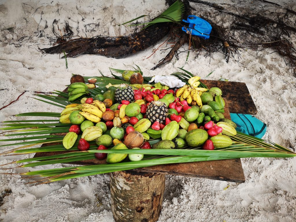Try some exotic fruits sold at Anse Georgette! Praslin