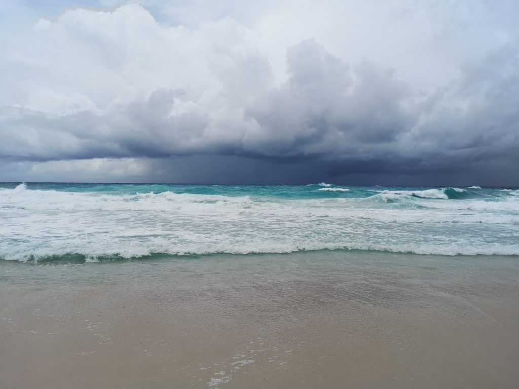 One last photo before the storm came!  Anse Georgette, A complete guide to Praslin Island in Seychelles.