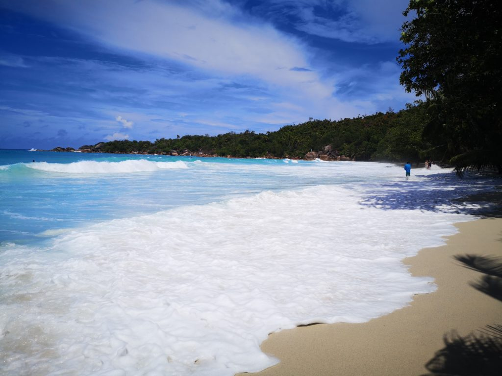 Beautiful Anse Lazio beach, Praslin A complete guide to Praslin Island in Seychelles.