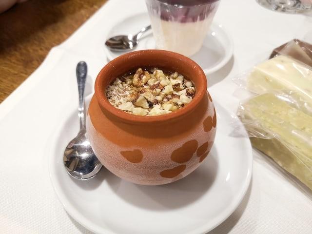 homemade ice-cream in terracotta pot