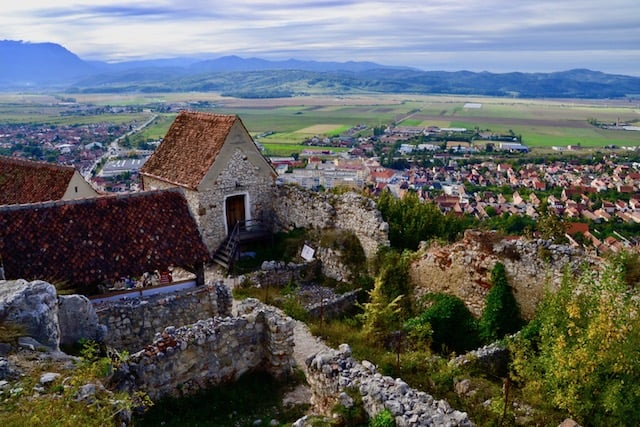 lovely views over the city from the Rasnov Citadel