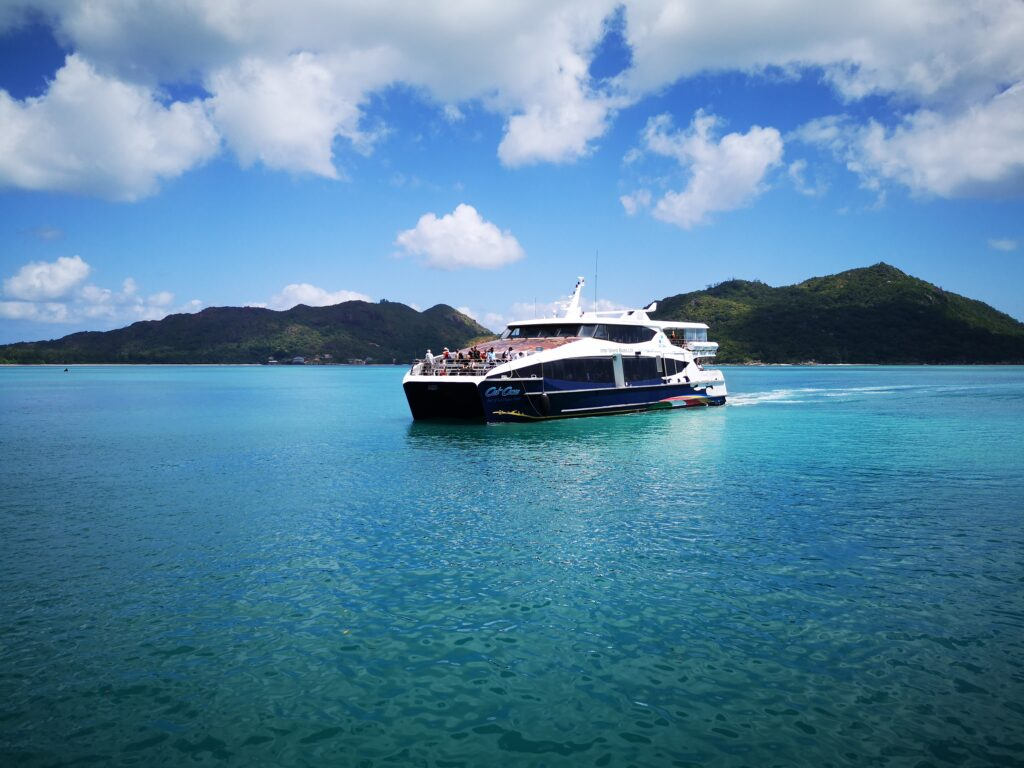 Cat Cocos Ferry between the islands in Seychelles, a complete guide to la digue island in seycheles