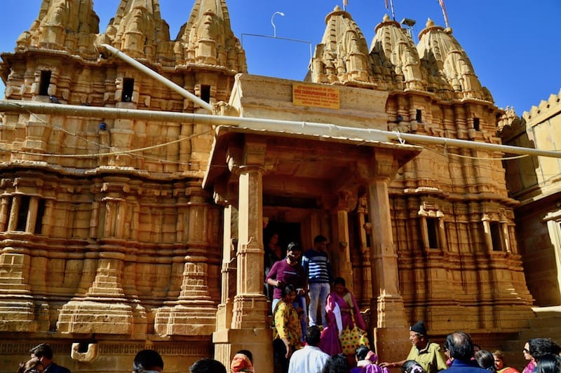 many people getting to Jain Temple inside the Jaisalmer Fort