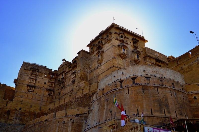 great angle to admire the Jaisalmer Fort