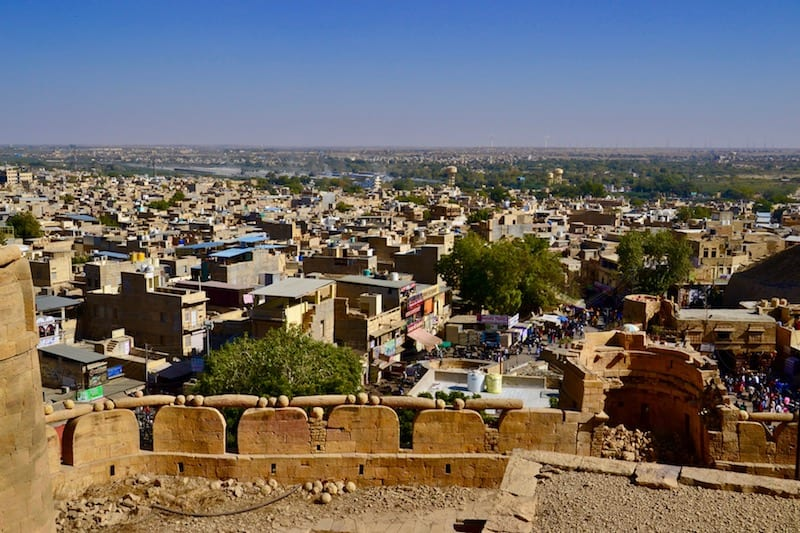 lovely views over Jaisalmer city from the Fort