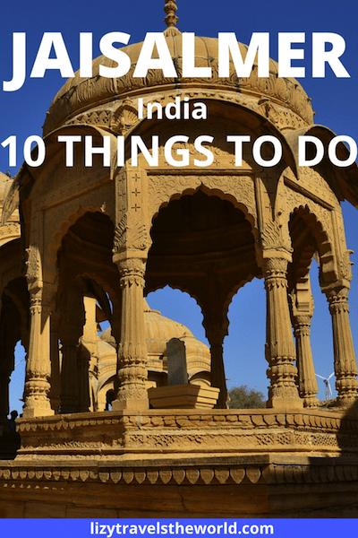 10 things to do in Jaisalmer, India