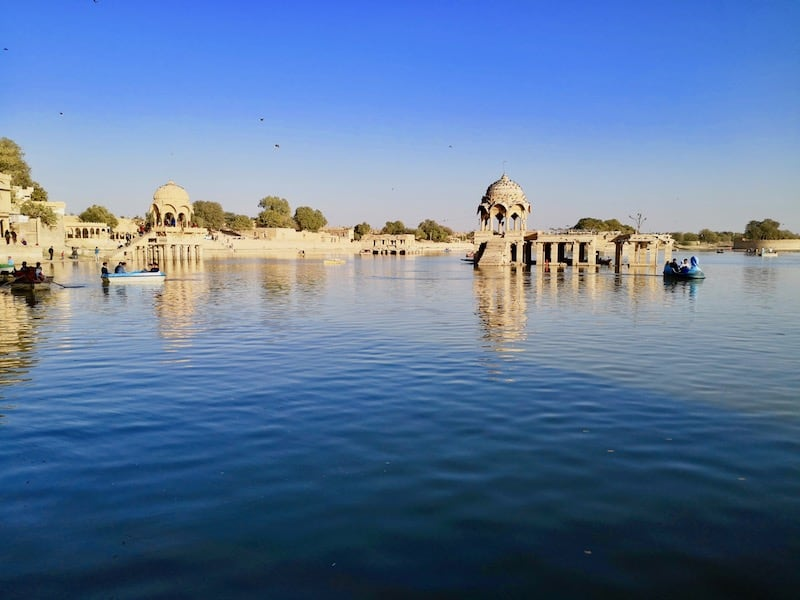 another angle to capture Lake Gadsisar in Jaisalmer, India