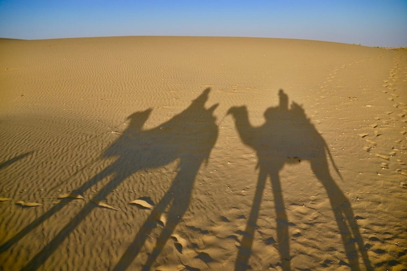 riding a camel in Thar Desert is one of the 10 things to do in Jaisalmer, India