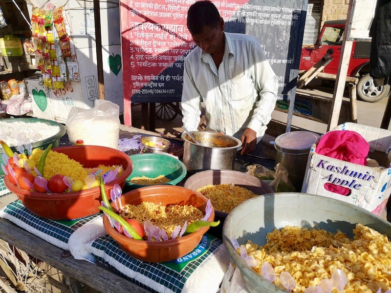 street food in Jaisalmer