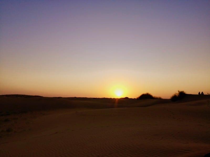 enjoy a sunset over the Thar Desert