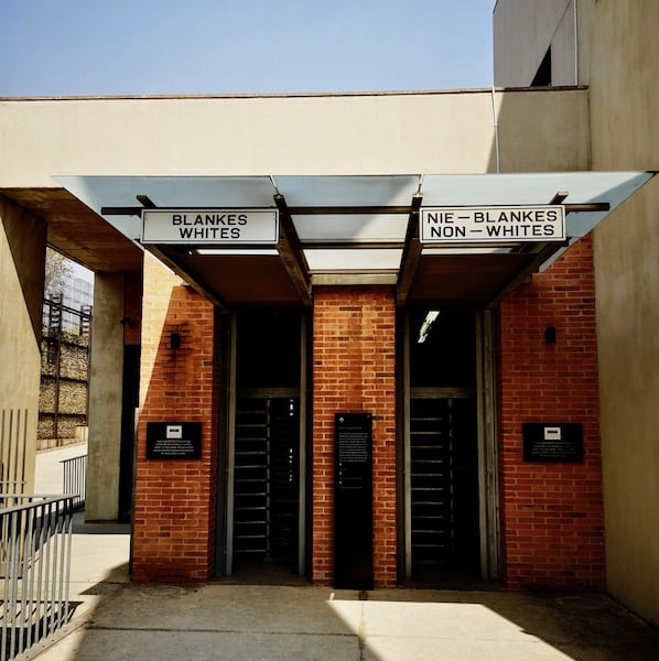 entry at Apartheid Museum, one day in Johannesburg