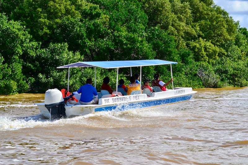 taking a boat tour in Celestun Reserva - self-guided day trip