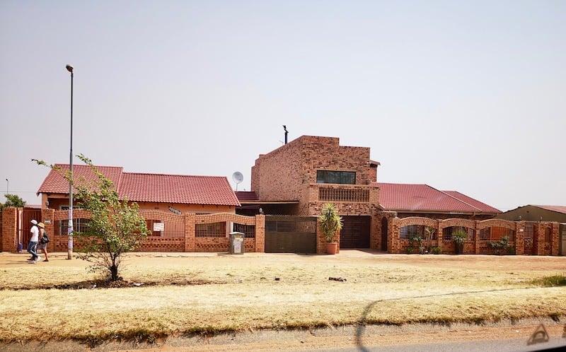 driving through Soweto, Johannesburg