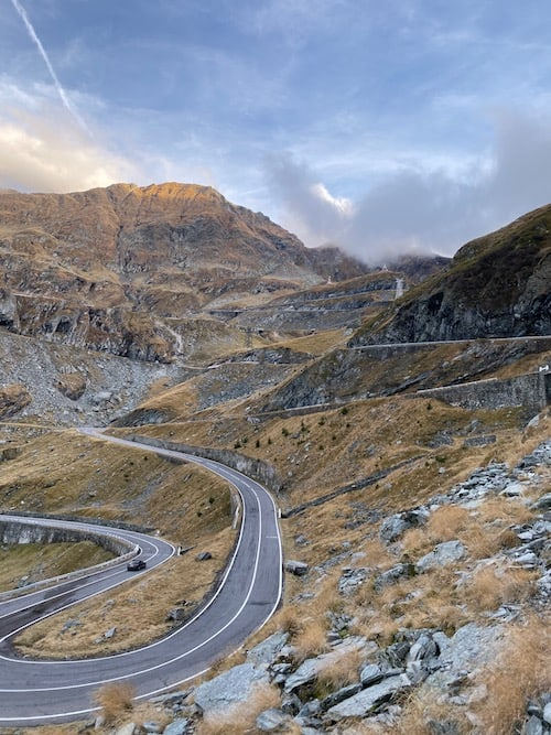 the spectacular Transfagarasan Road, 6 Day Trips from Brasov