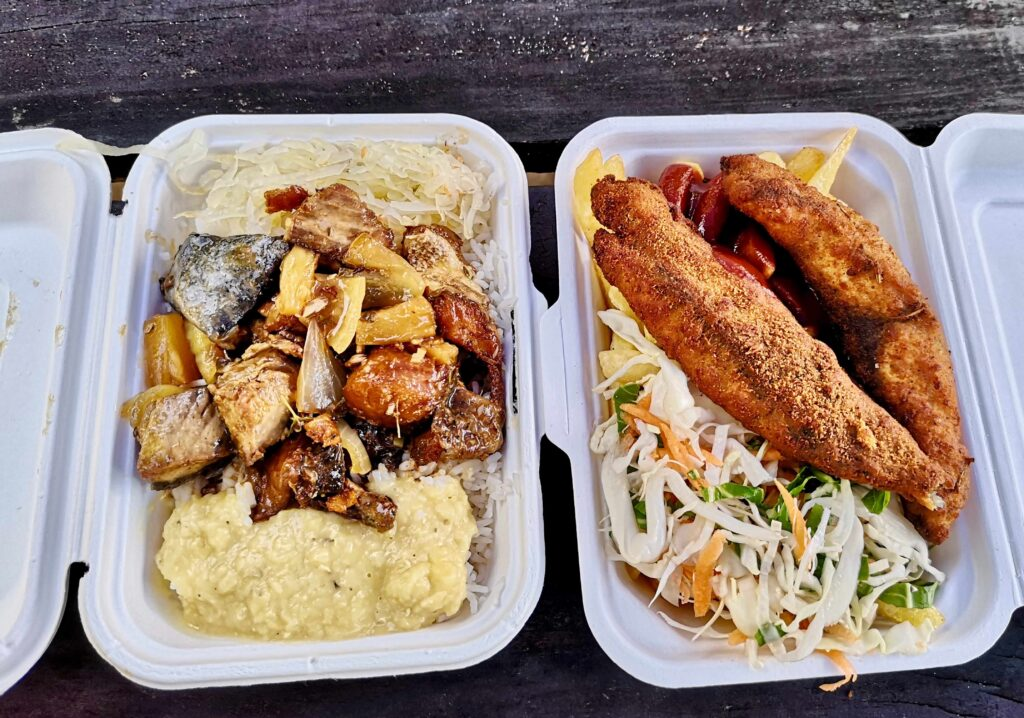 A takeaway food selection! Simply delicious!