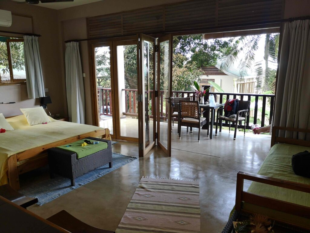 Our open-space apartment in Mahé, Seychelles