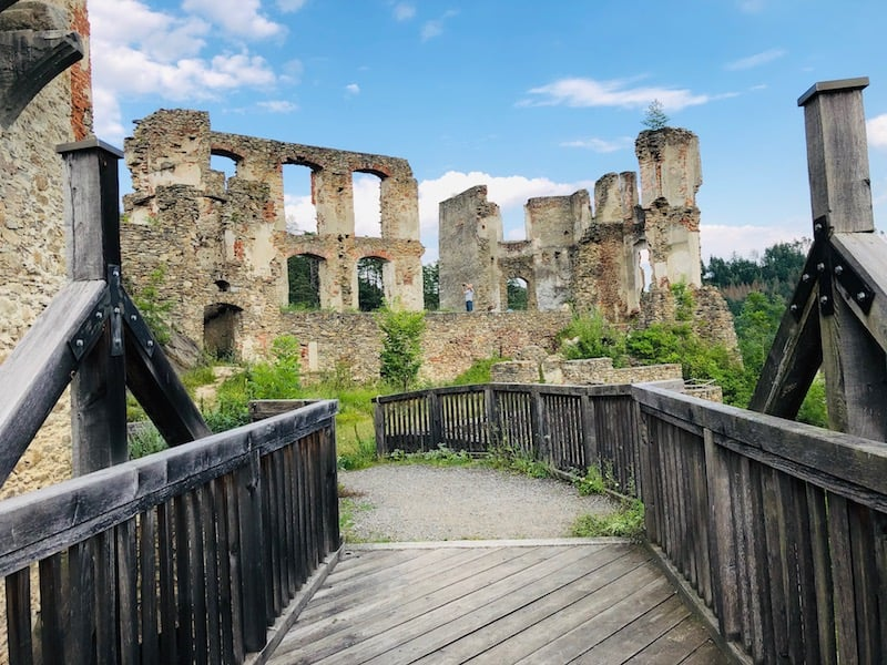 Visiting the Kollmitz Castle Ruins
