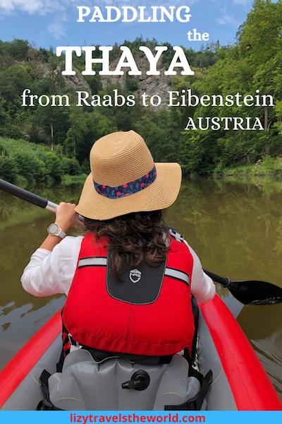Paddling the Thaya from Raabs to Eibenstein