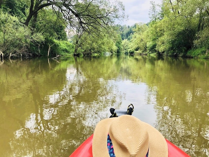 kayaking down the Thaya and March river