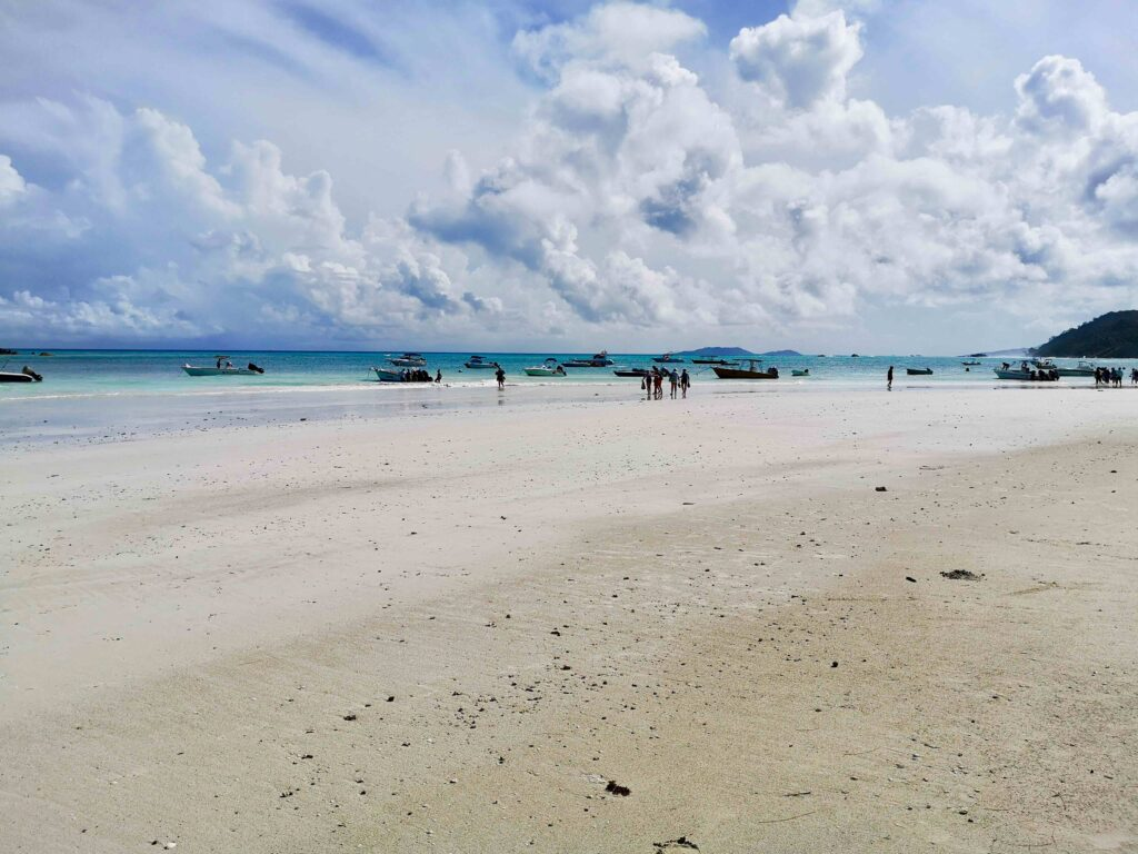 The most popular beach on the island. Anse Volbert, A complete guide to Praslin Island in Seychelles.
