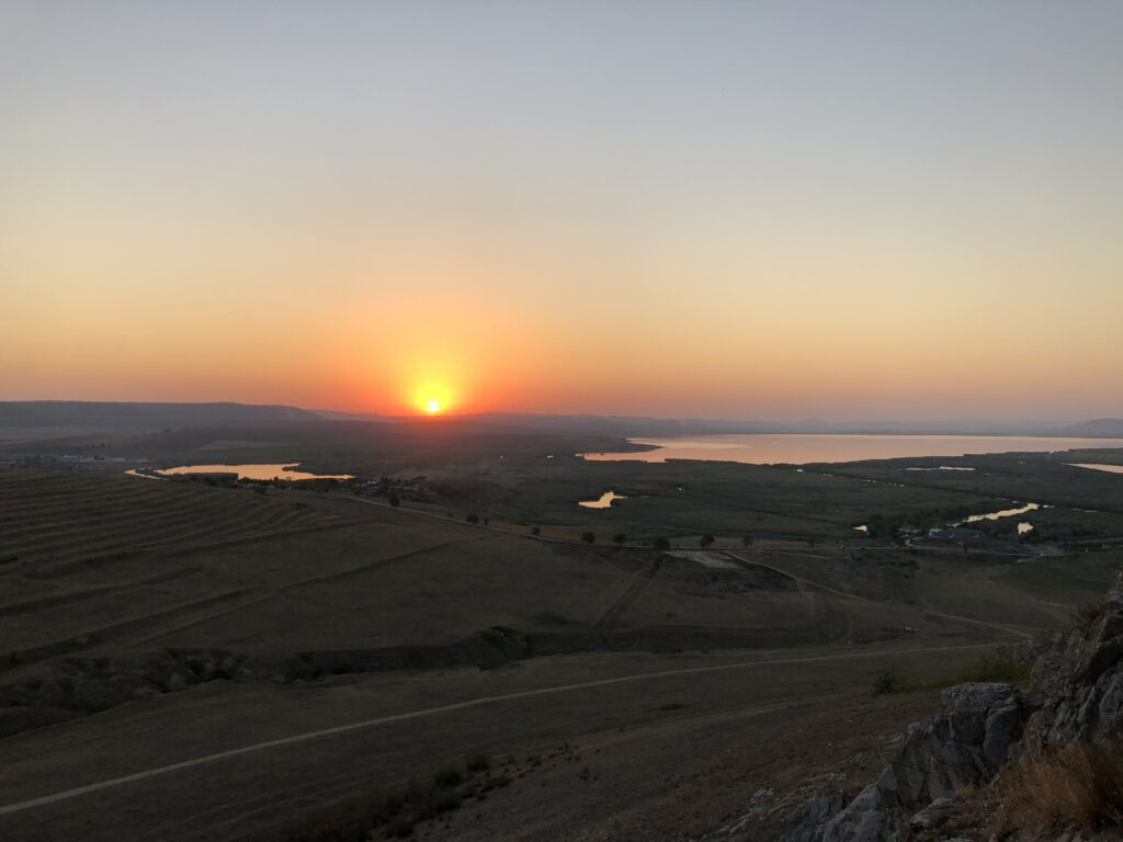 Sunset at Enisala Fortress.