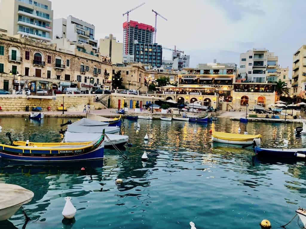 Sliema promenade, the perfect spot for sunsets during the perfect 6-day trip itinerary